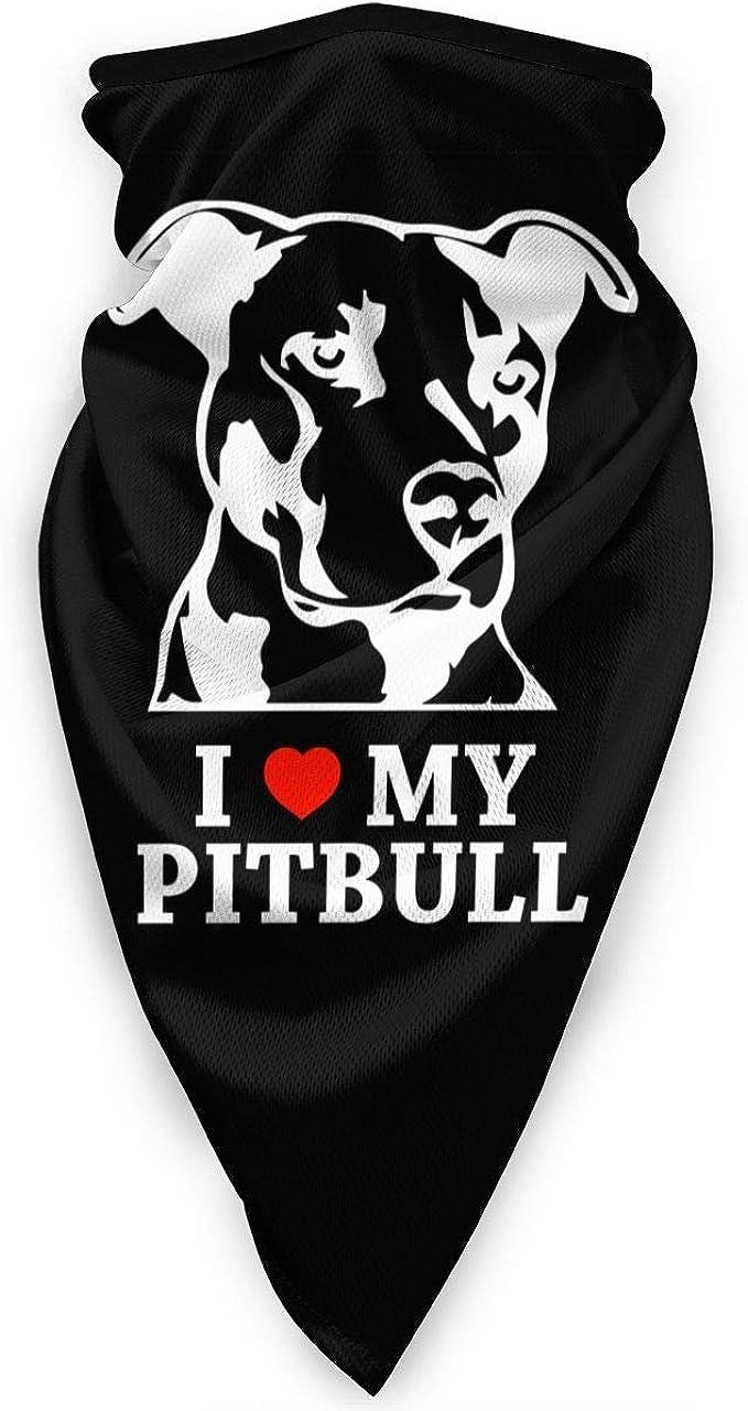 I Love My Pitbull Scaldacollo scaldacollo antivento Maschera sciarpa Maschera sportiva allaperto