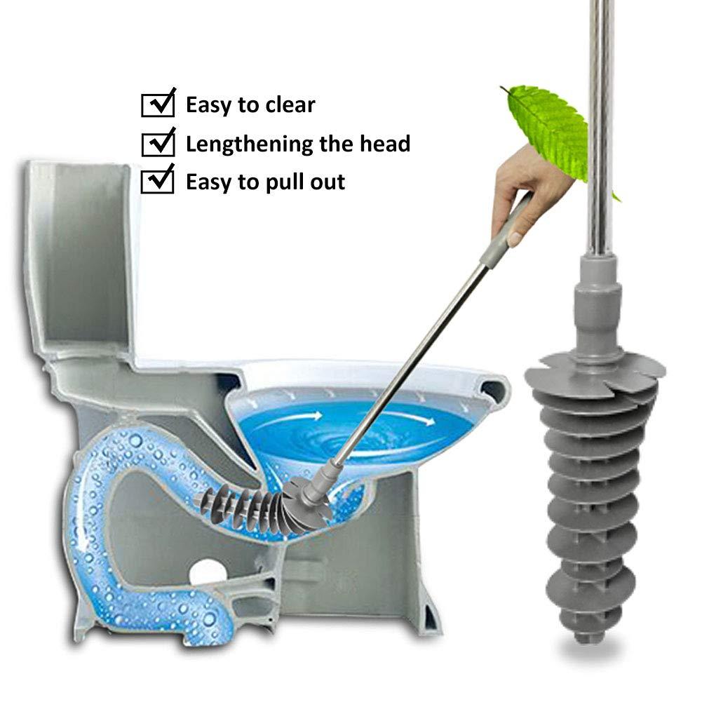 Flexible Toilettenb/ürste Kunststoff Toiletten-P/ömpel Surenhap Abflu/ßreiniger Toiletten-Luftst/ö/ßel