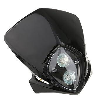 Segolike 12V 35W Black Dual LED Headlight Lamp For Custom Motorcycle Chopper Bobber Harley