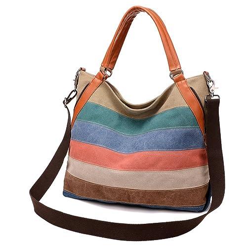 BYD - Mutil Function Mujeres Carteras de mano School Bag Shopping Bag Colorful Canvas Bolsos totes Bolsos bandolera: Amazon.es: Zapatos y complementos