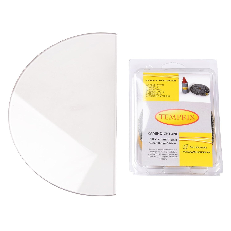 Kaminglas und Ofenglas passend für Bullerjan 02   Temperaturbeständig bis 800° C   » Wunschmaße auf Anfrage «   inkl. 10 x 2 mm Kamindichtung