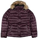 Marmot Womens Quilted Faux Fur Trim Hood Puffer Coat