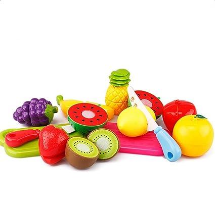 Hosaire 13 Piezas Corte de Juguetes de Frutas Hortalizas Juego de Plástico Para Niños Juguetes Set