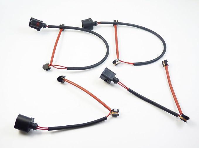 New Set 4Pcs Brake Pad Wear Sensor Indicator Front Rear Left Right 7L0907637 For Touareg Q7 2004-2010