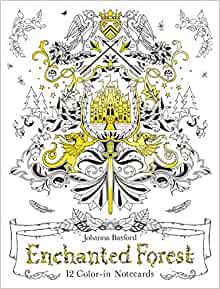 Amazon Enchanted Forest 12 Color In Notecards