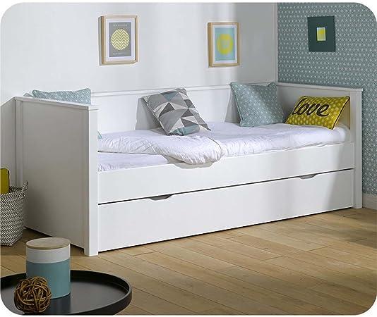 Extensible cama Nova Blanco 80 x 200 cm: Amazon.es: Bebé