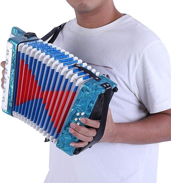 Dilwe Acorde/ón Mini Peque/ño 17-Key 8 Bajo Acorde/ón Educativo Musical Instrumento Juguete para Principiantes Ense/ñanza de la Primera Infancia