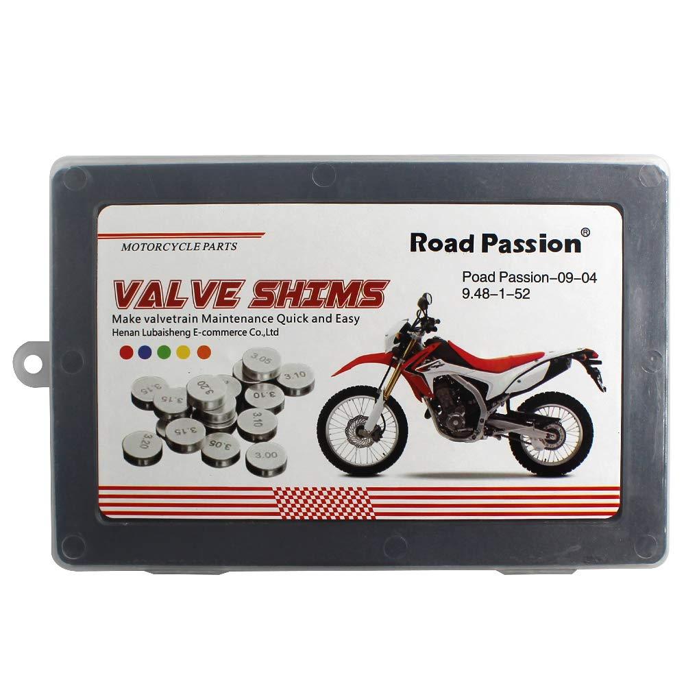 CRF450X 2005-2009 2012 Road Passion 9.48mm Pastiglie Valvola Kit Regolazione del Gioco alle Valvole 1.20mm-3.50mm 1x52 pcs per Honda CRF450R 2002-2012