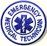 EMERGENCY MEDICAL TECHNICIAN PARAMEDIC EMT Logo T shirt Jacket Uniform Patch Iron on Embroidered Sign Badge Costume