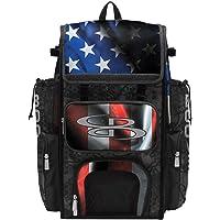 Boombah Superpack Bat Bag - Backpack Version (no Wheels) - Holds 4 Bats - USA Black Ops Black/Royal Blue/Red