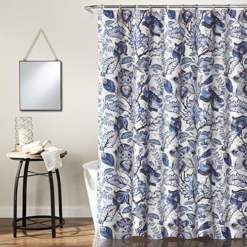 Jacobean Floral Print - Lush Decor Cynthia Jacobean Shower Curtain-Fabric Floral Print Design, x 72