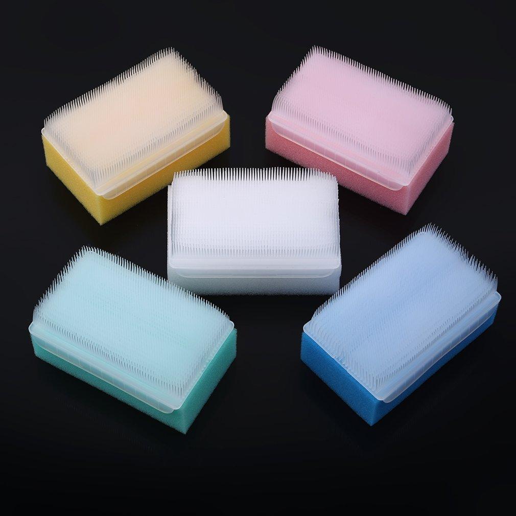 Dolland 5 Pcs Colorful Sensory Brushes Kids Early Education Touch Massage Brush Tactile Brush Wash Bath Sponge Scrub Bristle Brush