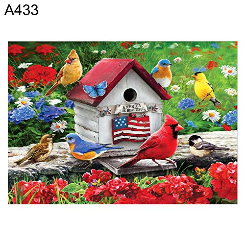 yanQxIzbiu Diamond Paintings, Art Picture for Home Wall Decor, 30x40cm Flower Tree Bird Cross Stitch DIY Mosaic Full Round Diamond Painting - -