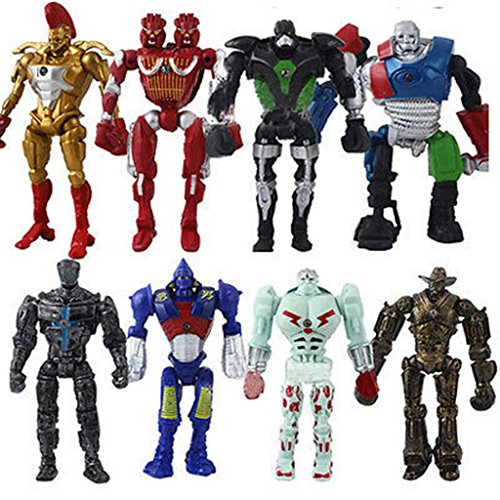 Fortitude - 8x Real Steel Atom Midas Noisey Boy Zeus 13cm PVC Action Figure Set