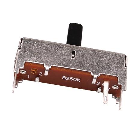 Sharplace Potenciómetro Partes de Bajo de Guitarra Eléctrica 36 mm B250K Conmutador de Selector de Pedales