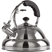 Chef's Secret 2.75-Quart T-304 Stainless-Steel Tea Kettle, a Powerfully Conductive Boiling Vessel with a Copper Center Capsule Bottom