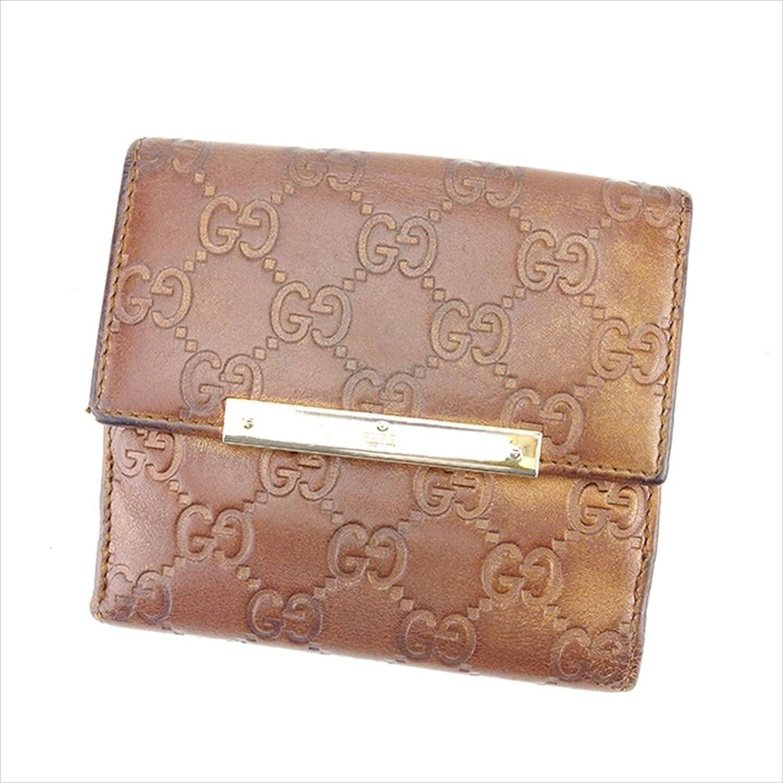 グッチ GUCCI Wホック財布 二つ折り財布 ユニセックス 112664 グッチシマ 中古 Y7099 B0772SDSMD