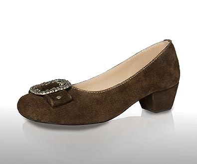 Damen Leder Trachtenschuhe Dirndl Schuhe Trachten Pumps Echtes Leder Damen 55a6f8