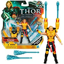 Marvel Year 2011 THOR The Mighty Avenger Deluxe 4 Inch Tall Figure - BLASTER ARMOR THOR with Missile Blaster, Missiles & Mjolnir Hammer