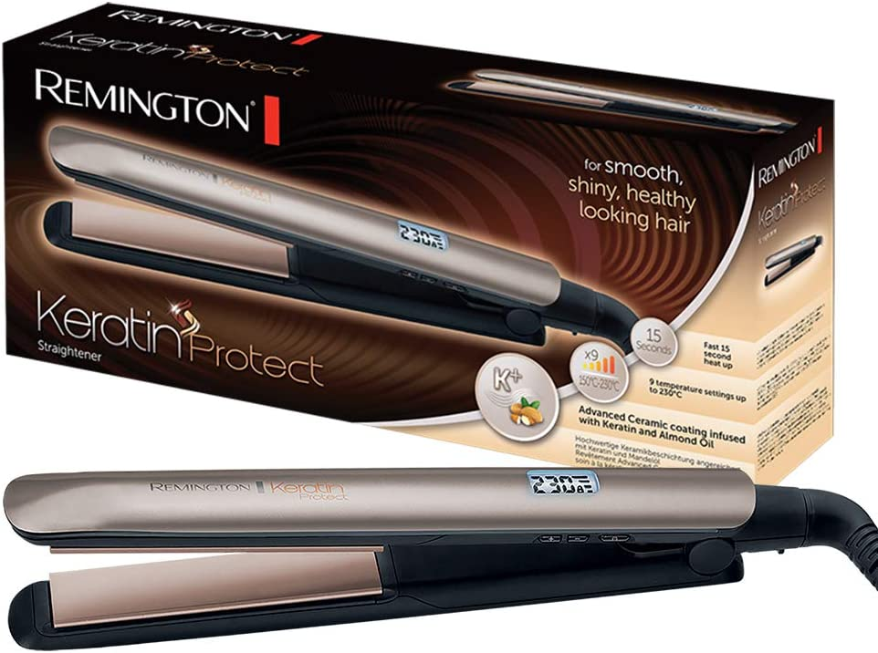 Remington Hair straightener from Remington Keratin Protect Channel Gold brown