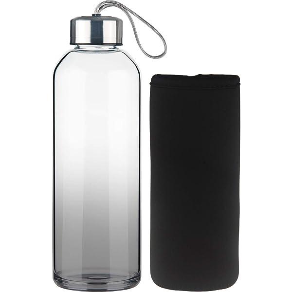 FCSDETAIL Botella de Agua de Cristal, Botella de Agua de Vidrio de ...