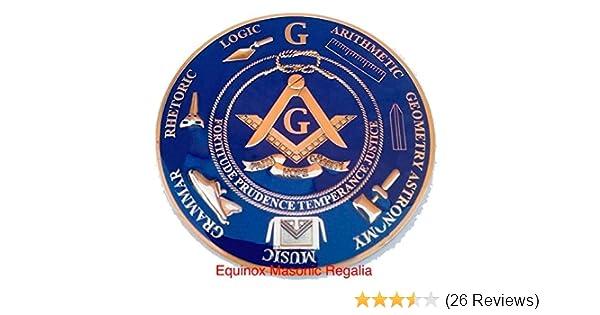 3 Diameter 32nd Degree Scottish Rite Round Black /& Copper Masonic Auto Emblem