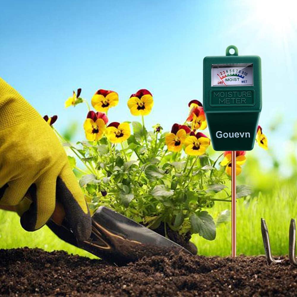Gouevn Soil Moisture Meter Hygrometer Moisture Sensor Soil Test Kit Plant Water Meter for Garden No Battery Needed Lawn Farm Plant Moisture Meter Indoor /& Outdoor