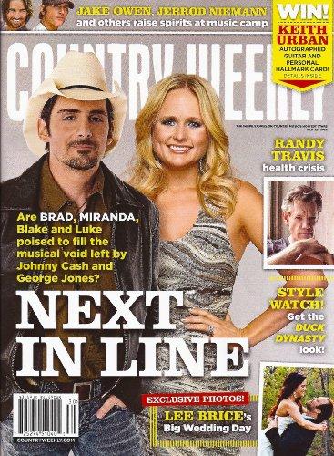 Country Weekly Magazine - Brad Paisley, Miranda Lambert, Randy Travis, Lee Brice, Jake Owen, Jerrod Niemann - July 29, 2013 Country Weekly Magazine