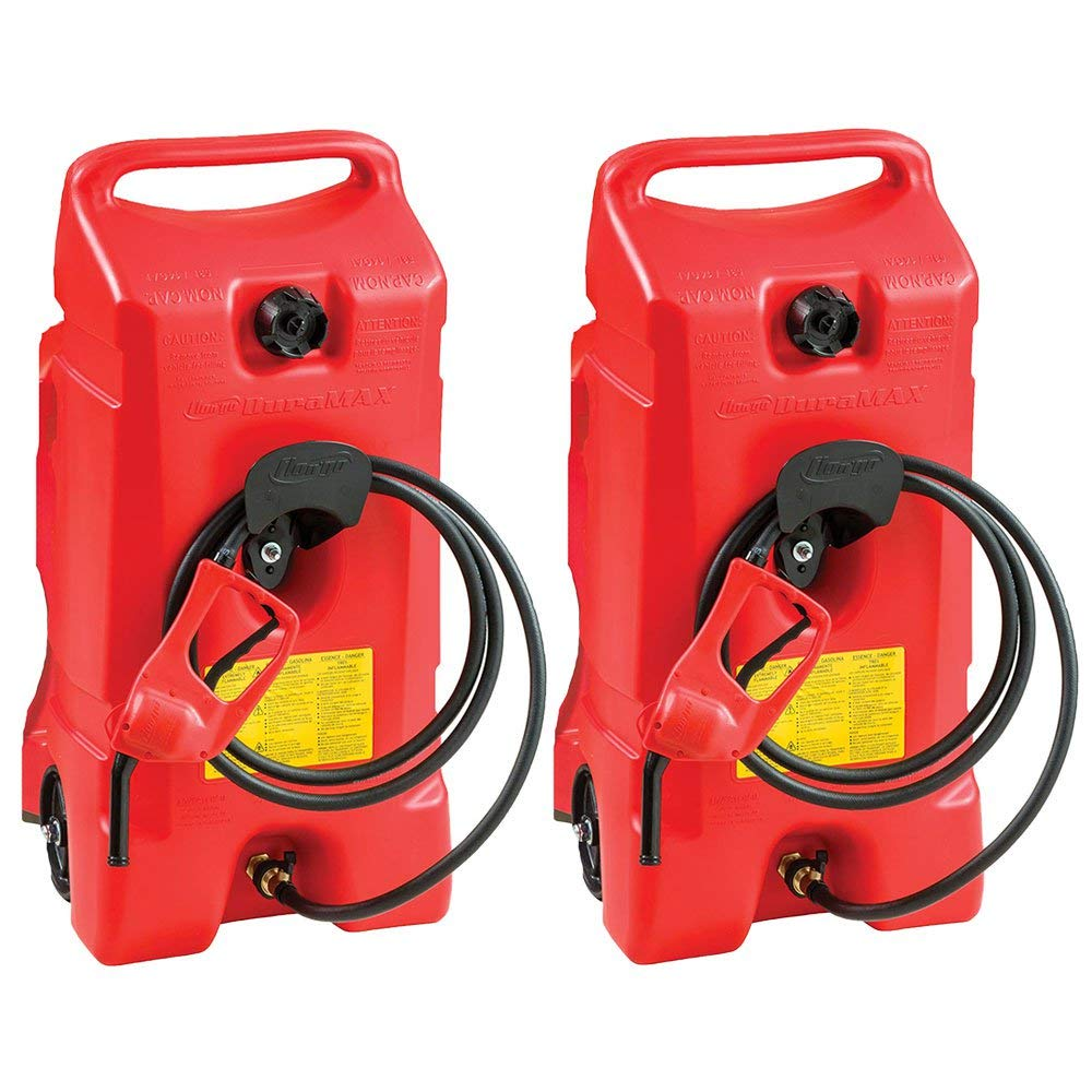 Scepter Flo N Go Duramax 14 Gallon Portable Gas Fuel Tank with Pump (2 Pack) by Scepter