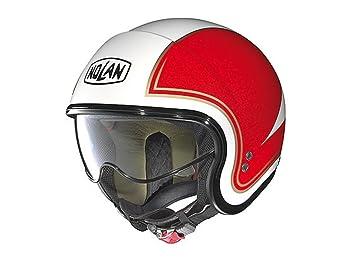 Nolan-Casco de moto jet N21 tricolor policarbonato Lexan N-Com metal, color