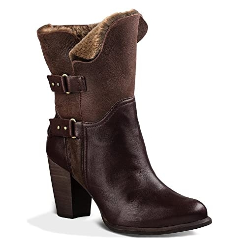 db5b862c999 UGG Jayne Women's Fold Over Stacked Heel Boots Shoes: Amazon.ca ...