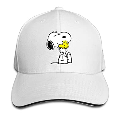 Amazon.com  Unisex Snoopy Peanut Adjustable Snapback Baseball Cap ... a7fa1b5a14f