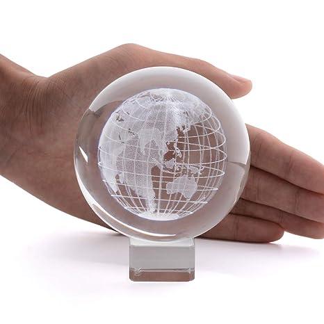 Amazon.com: Bola de cristal 3D, esfera de cristal, esfera de ...