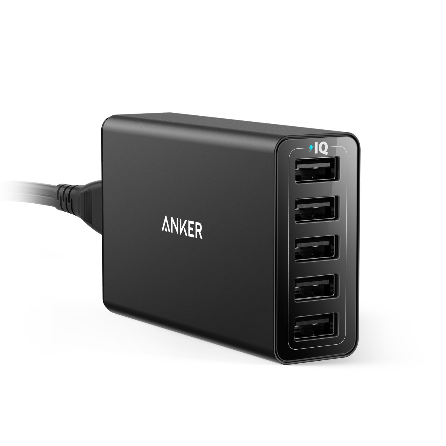 Anker 40W 5-Port USB Wall Charger, PowerPort 5 for iPhone XS/XS Max/XR/X/8/7/6/Plus, iPad Pro/ Air 2/mini, Galaxy S9/S8/Edge/Plus, Note 8/7, LG, Nexus, HTC and More by Anker