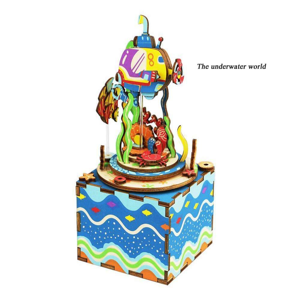 DYMAS Decorazioni per la casa artigianato Music Box Spaccio alimentare a mano legno fai da te