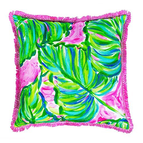 Lilly Pulitzer Indoor/Outdoor Decorative Pillow (Large, Painted Palm) by Lilly Pulitzer
