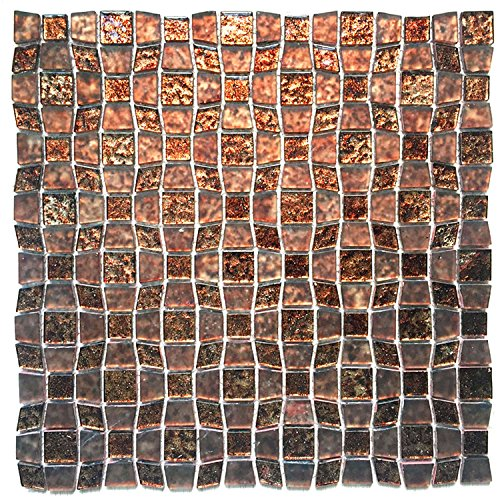"Newlinkz Instant Mosaic 6-04-111 Peel'n'Stick Glass Mosaic Tile, 11.5"" x 11.5"" price tips cheap"