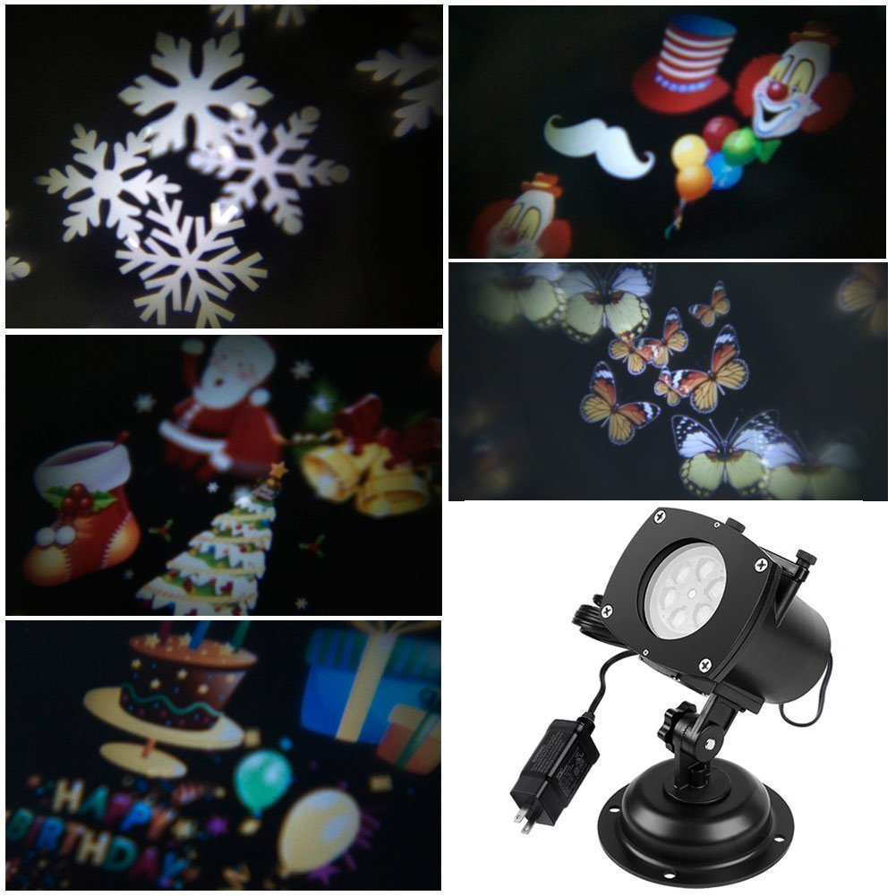 ACRATO Holiday Light Projector, 12 Pattern Slides LED Landscape Projector for Holiday Day Wedding Birthday Parties Decoration Garden Outdoor and Indoor