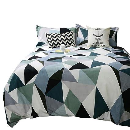 Amazon Com Tealp Modern Geometric Triangle Pattern Duvet Cover 3
