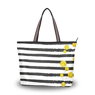 Amazon.com: Bolsas de hombro con purpurina dorada y gran asa ...
