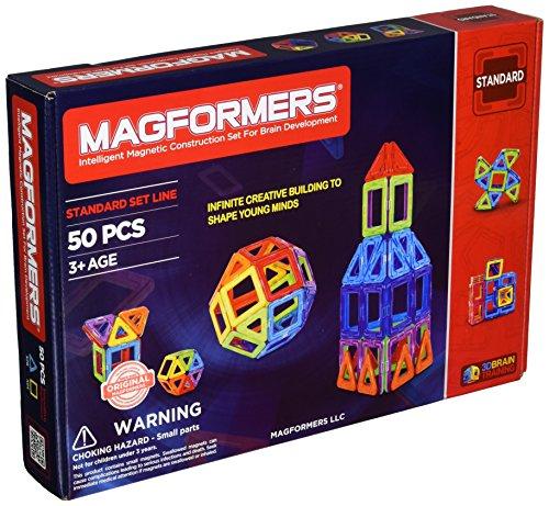 Magformers Rainbow 50 Pc Set Magnetic    Building      Blocks, Educational  Magnetic    Tiles Kit , Magnetic    Construction  STEM Set