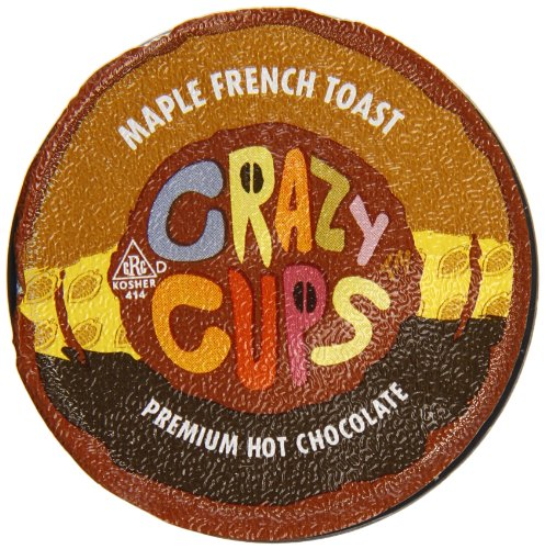 Crazy Cups Coffee, Hot Chocolate and Maple French Toast, 22 Count
