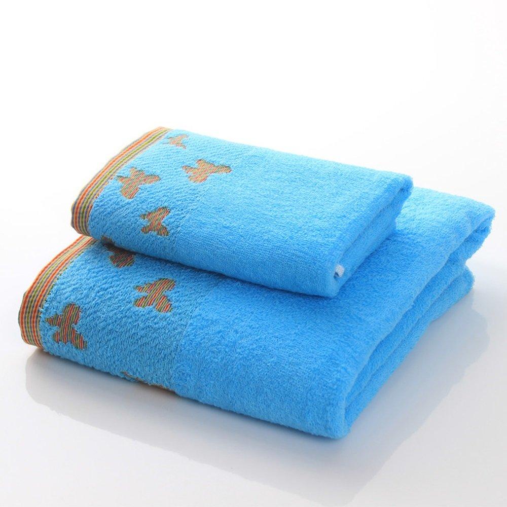 Toalla de baño suave- Toallas de algodón Adulto masculino y femenino traje de pareja Traje agua suave (2 colores opcional) -Fuerte absorción de agua (Color ...