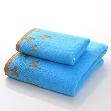 Toalla de baño Puede Usar Toallas de algodón Adulto Masculino y Femenino Traje de Pareja Traje Agua Suave (2 Colores Opcional) Toalla (Color : A): ...
