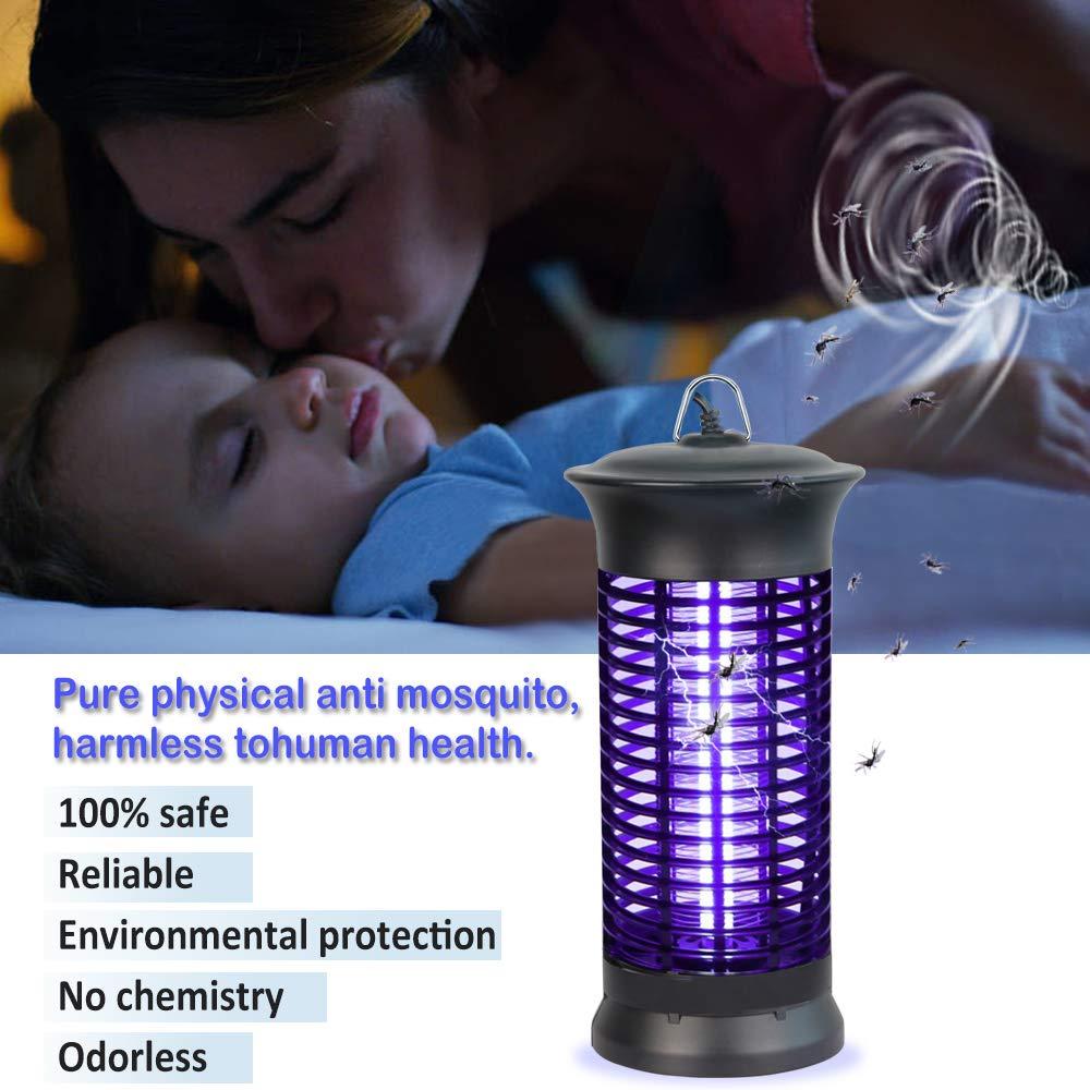 Elettronica Giardino Lampada UV per Insetti Loowoko Insect Killer Anti Mosche e parassiti Trappola per Mosche e zanzare Cattura Insetti luci per casa Uso Interno Cucina
