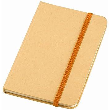 Notebook para notas con 80 hojas A6 Blancas y cierre con ...