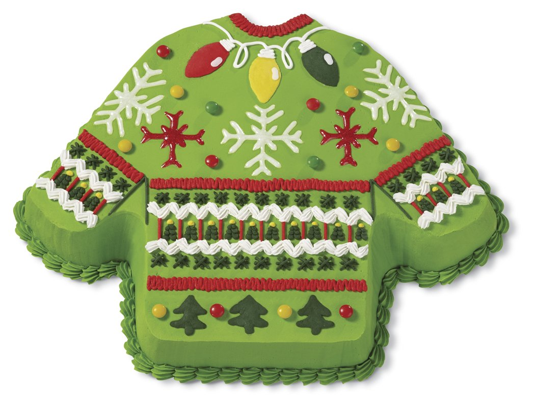 Wilton 2105-0062 Christmas Ugly Sweater Non-Stick Cake Pan