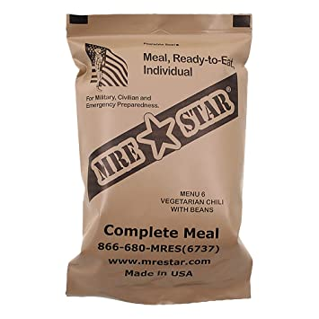 MRE Star ready-to-eat Menu Chile végétarien