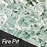 Cheap Fire Pit Essentials Fire Glass for Fireplace and Firepit Fireglass 10 Pound 1/2 Inch Clear Ice