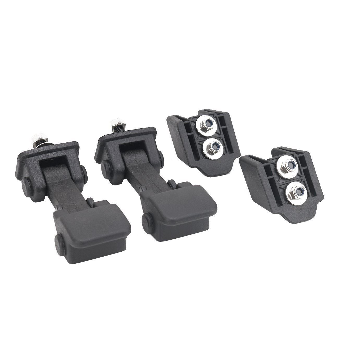 Deep Touch 1 Pair Hood Lock Latches Catch Locking Kit for Jeep Wrangler JK 2007-2016 Black